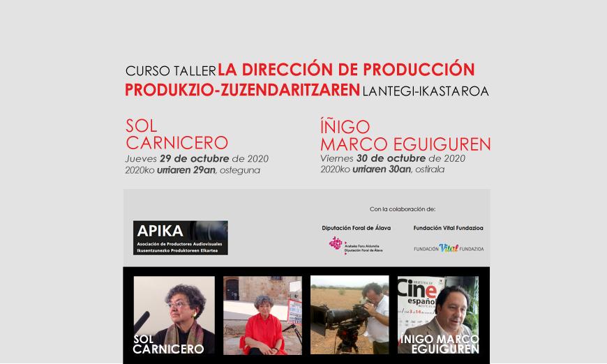 Curso Taller Sol Carnicero e Iñigo Marco 29/30 de Octubre de 2020-Apika